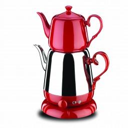 Nosta Electrical Tea Pot -Red/Elektrikli Cay Takimi/A339-01