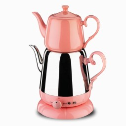 Nosta Electrical Tea Pot -Pink/Elektrikli Cay Takimi/A339-02