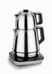 Demiks Electrical Tea Pot Set-Satin/Black / Cay Makinasi