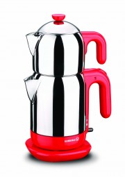 Demtez Electrical Teapot- Red/Caymatik / A369-01